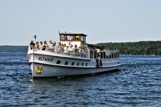 Schiff auf dem Werbellin See